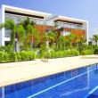 View of nice modern villa in tropic environment — Stock Photo #26008019