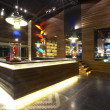 Panoramic view of nice stylish reception desk during nighttime — Stock Photo #26023405