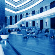 Panoramic view of nice modern stylish business center interior — Stock Photo