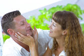 Portrait of nice young couple having fun together — Stock Photo