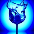Close up view of margaritglass on blue back — Stock Photo #26158567