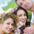 Stock Photo: Portrait of young happy attractive having some wine