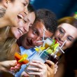 Portrait of young attractive having fun in night club — Стоковая фотография