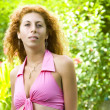 Stock Photo: Portrait of nice womin summer environment