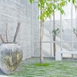 Fragment like view of nice summer house patio - 图库照片