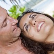 A portrait of attractive couple having fun on the beach — Stock Photo #26232011