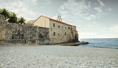 Views of the old city in Budva — Stock Photo