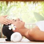 Summer massage — Stock Photo