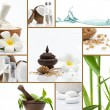 Spa theme  photo collage composed of different images — Stok fotoğraf