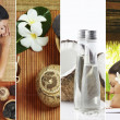 Spa theme photo collage composed of different images — Stock Photo #33286245