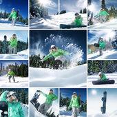 Snowboarding mix — Stock Photo