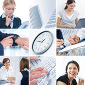 Business theme collage — Stock Photo