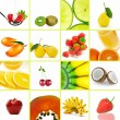 Food collage — Stock Photo #47582191