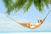 In hammock — Stock Photo