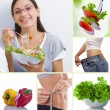 Healthy food collage — Stock Photo #47933433