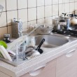 Dishes in the sink — Foto Stock