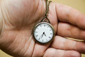 Watch in hand — Stock Photo
