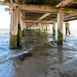 Stock Photo: View below pier