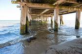 View below the pier — Stock Photo