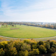 Stock Photo: Horse racecourse