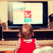 Child in front of TV — Stock Photo #51035337