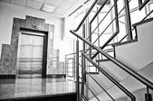 Elevator and staircase — Stock Photo