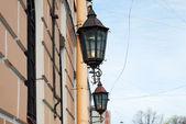 Two vintage street lamp — Stock Photo