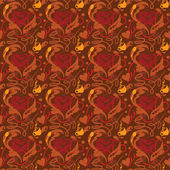 Seamless pattern I love coffee — Stock Vector