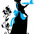 Housemaid silhouette — Stock Vector