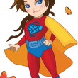 Stock Vector: Super Girl vector illustration