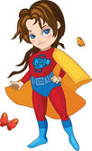 Super Girl vector illustration — Stock Vector
