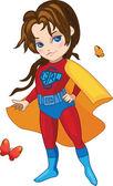 Super Girl vector illustration — Stock Vector