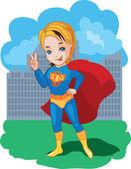 Super chłopiec ilustracja wektorowa — Wektor stockowy