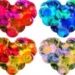 Watercolor hearts isolated on white background — Stock Photo