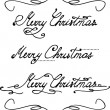 'Merry Christmas' hand lettering — Stock Vector
