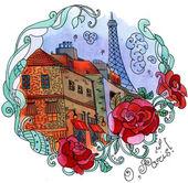 Watercolor Paris — Stock Photo