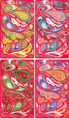 Paisley background set — Stock Photo