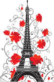 Eiffel tower vector silhouette — Stock Vector