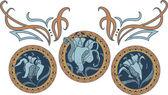 Art Nouveau style ornament — Vector de stock