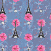 Floral seamless watercolor pattern — Stock Photo