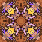 Flowers. Seamless kaleidoscopic pattern — Stock Photo