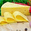 Cheese with spices and herbs - Stok fotoğraf