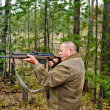 Man with a carbine — Stockfoto
