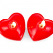 Stock Photo: Hearts two in form of candles