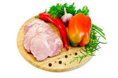 Delicacy pork with pepper — Stock Photo