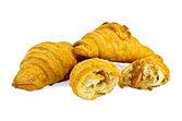 Croissants with sweetened condensed milk — Stock Photo