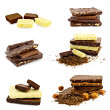 Stock Photo: Chocolate different set