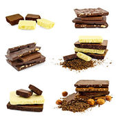 Chocolate different set — Stock Photo