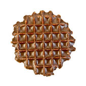 Wafer in chocolade — Stockfoto