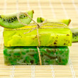 Stock Photo: Soap homemade with twine and kiwi